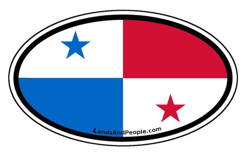 Panama Flag Car Bumper Sticker Decal