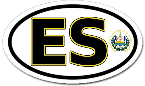 ES El Salvador Car Bumper Sticker Decal