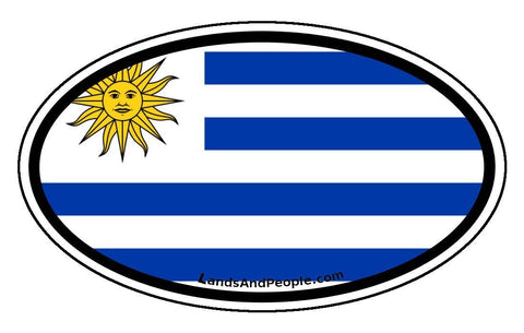 Uruguay Flag Car Bumper Sticker Decal
