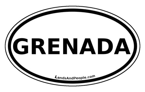 Grenada Car Bumper Sticker Decal