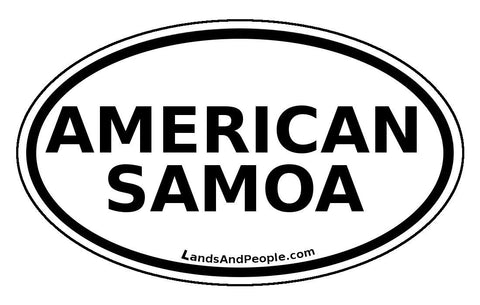 American Samoa Car Bumper Sticker