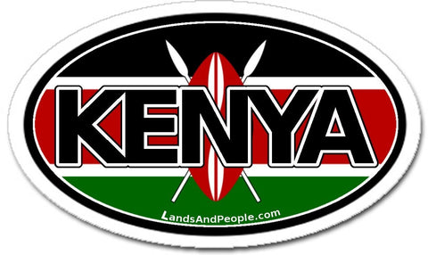 Kenya Car Bumper Sticker Decal