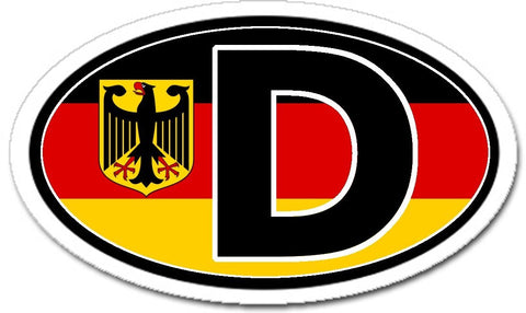 D Germany Flag Sticker Oval with German Eagle