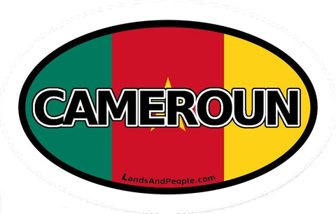 Cameroun Cameroon in French Sticker Oval