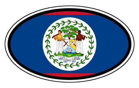 Belize Flag Car Bumper Sticker Decal