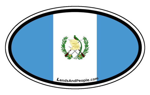 Guatemala Flag Car Bumper Sticker Decal