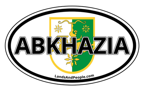 Abkhazia Emblem Oval Sticker