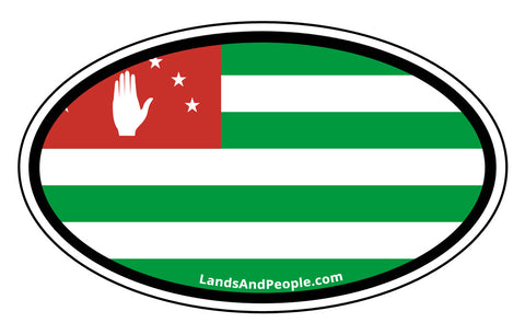 Abkhazia Abkhazian Flag Car Bumper Oval Sticker