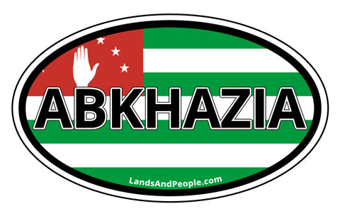 Abkhazia and Abkhazian Flag Car Bumper Oval Sticker