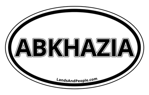 Abkhazia Apkhazeti Car Bumper Black and White Oval Sticker