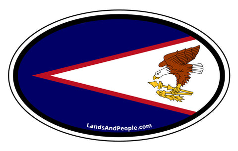 American Samoa Flag Car Bumper Sticker Decal