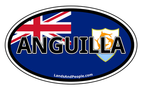 Anguilla Flag Car Bumper Sticker Decal
