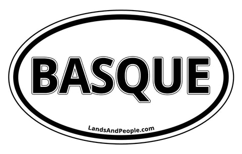 Basque Bumper Sticker Oval Black and White