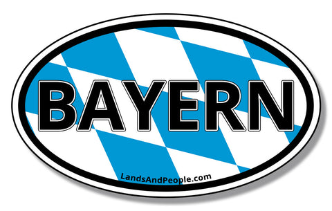 Bayern Bavaria in German Coat of Arms Sticker Oval