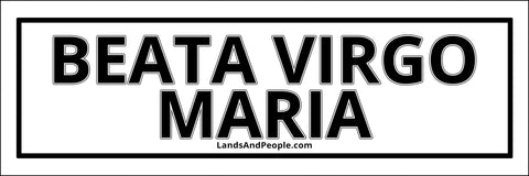 "Beata Virgo Maria, ""Blessed Virgin Mary"" in Latin, Sticker Oval"