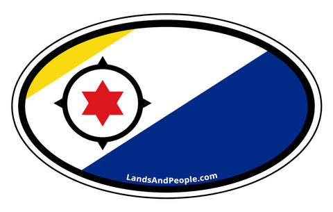 Bonaire Flag Car Bumper Sticker Decal