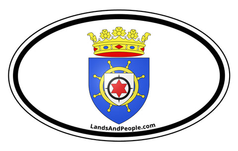 Bonaire Coat of Arms Car Bumper Sticker Decal