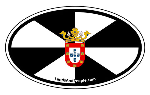 Ceuta Flag Sticker Oval