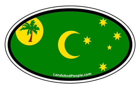 Cocos Keeling Islands Flag Car Bumper Sticker Decal