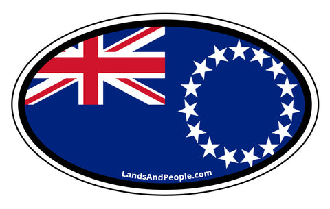 Cook Islands Flag Car Bumper Sticker Decal