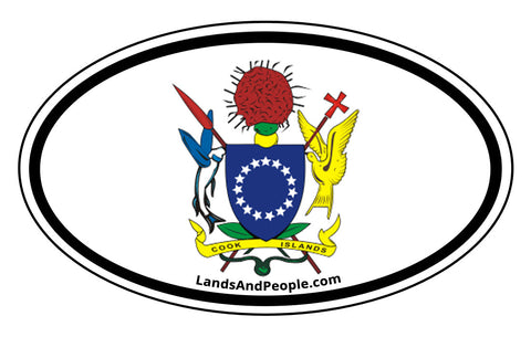 Cook Islands Car Bumper Sticker Decal