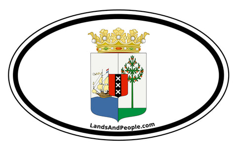 Curaçao Coat of Arms Car Bumper Sticker Decal