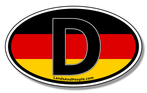D Deutschland German Flag Car Vinyl Sticker Oval
