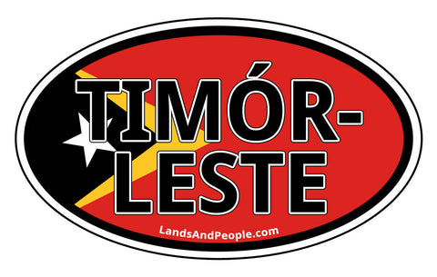 Timór-Leste East Timor Flag Car Sticker Oval