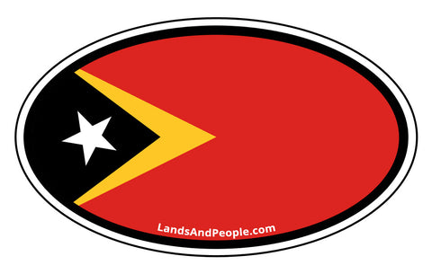 Timor Leste East Timor Flag Car Sticker Oval