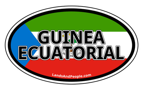 Guinea Ecuatorial Equatorial Guinea in Spanish Car Bumper Sticker Oval