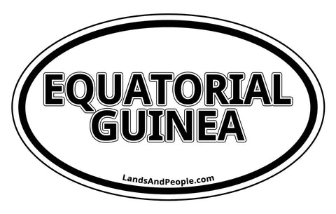 Equatorial Guinea Car Sticker Oval