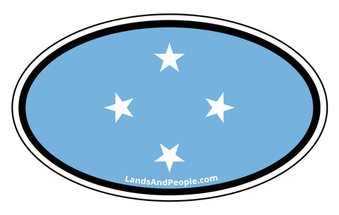 Federated States of Micronesia Flag Car Bumper Sticker Decal