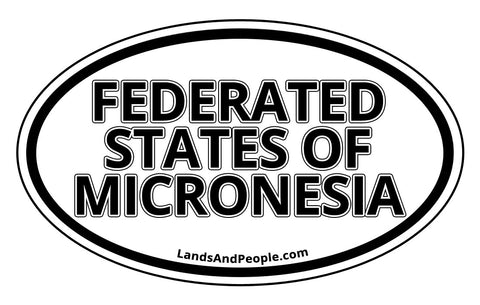 Federated States of Micronesia Car Bumper Sticker Decal