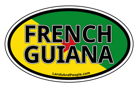 French Guiana Sticker Oval
