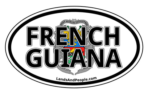 French Guiana Coat of Arms Car Bumper Sticker