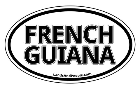 French Guiana Car Bumper Sticker Decal