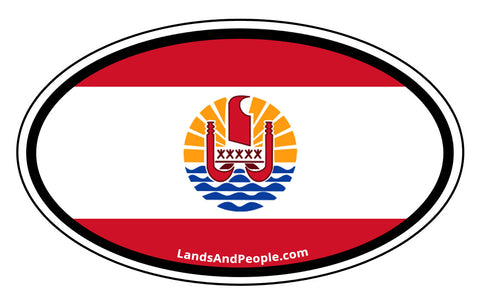 French Polynesia Flag Car Bumper Sticker Decal