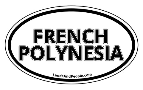 French Polynesia Car Bumper Sticker Decal