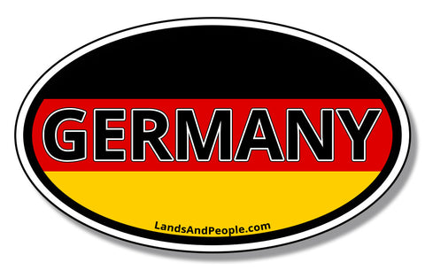 Germany German Flag Car Sticker Vinyl Oval