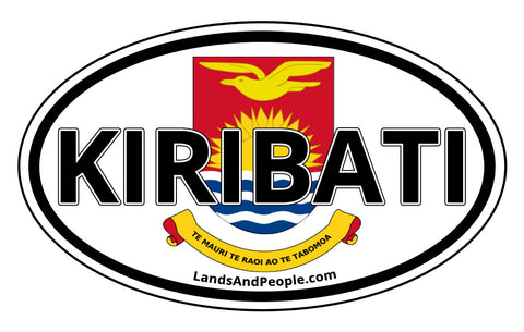 Kiribati Coat of Arms Car Bumper Sticker