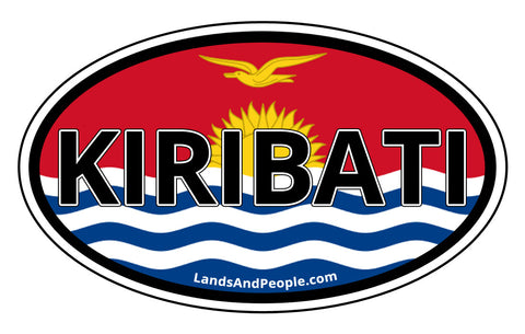 Kiribati Flag Car Bumper Sticker