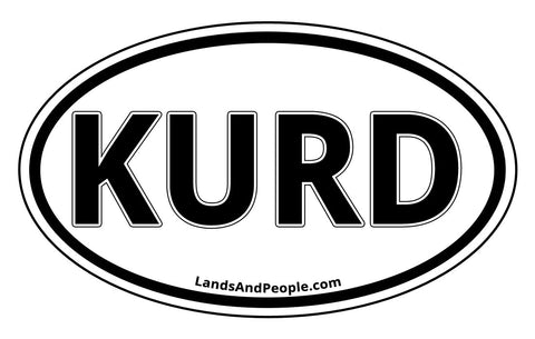 Kurd Kurdistan Sticker Oval