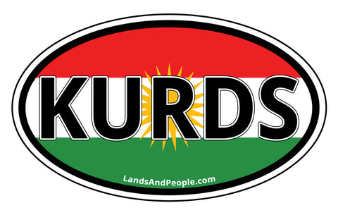 Kurds Kurdistan Sticker Oval