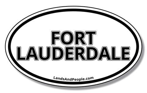 Fort Lauderdale Florida Sticker Decal Oval