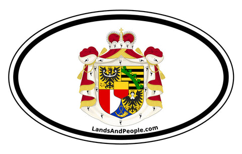Liechtenstein Coat of Arms Sticker Decal Oval
