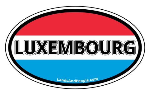 Luxembourg Flag Sticker Oval