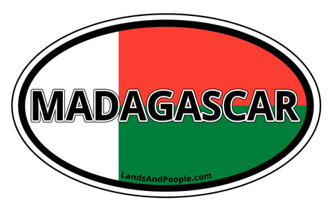 Madagascar Sticker Oval