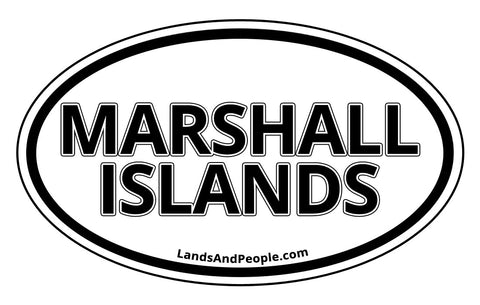Marshall Islands Car Bumper Sticker Decal