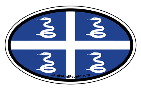 Martinique Snake Flag Car Bumper Sticker Decal
