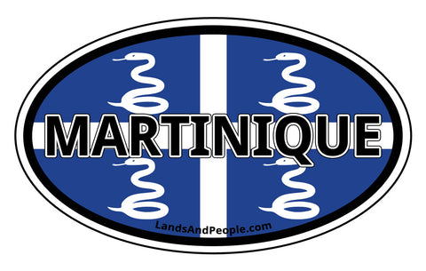 Martinique Flag Car Bumper Sticker Decal
